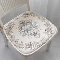 欧式餐椅垫坐垫田园布艺餐桌椅子坐垫 可拆洗凳子垫椅垫