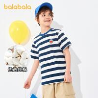 【抢购价:44.9】【哆啦A梦IP】巴拉巴拉童装儿童t恤2021新款夏装男女童条纹中大童