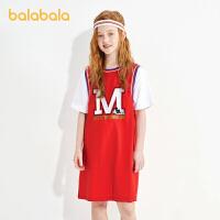 【5.8品类日 4件4折:79.6】【米奇IP】巴拉巴拉童装女童短袖连衣裙儿童2021新款夏装