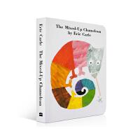 英文原版绘本 启蒙 Eric Carle The Mixed-Up Chameleon Board Book 拼拼凑凑