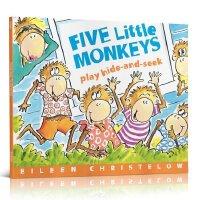 英文原版廖彩杏推荐绘本 Five Little Monkeys Play Hide-And-Seek 五只小猴子捉迷藏