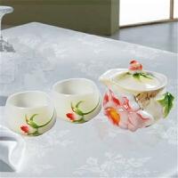 优质创意陶瓷茶具结婚婚庆礼物实用摆件装饰高档工艺品功夫茶茶具家用三件套茶杯下午茶套茶壶花茶
