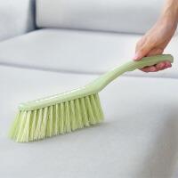 清洁刷 家务清洁长柄素色塑料床刷防尘除皱整铺扫床单软毛刷子(两只装)