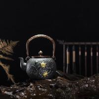 铁壶铸铁茶壶纯手工无涂层功夫茶具铸铁壶无涂层 铁茶壶日本南部生铁壶茶具烧水煮茶老铁壶