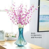 透明玻璃花瓶摆件欧式客厅餐桌花艺套装干花插花创意时尚现代简约