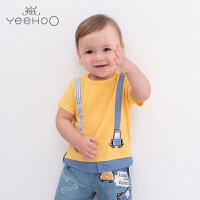 【每满100减50】【直降】英氏婴儿衣服 男宝圆领T恤短袖夏季上衣 迪士尼系列183A0070