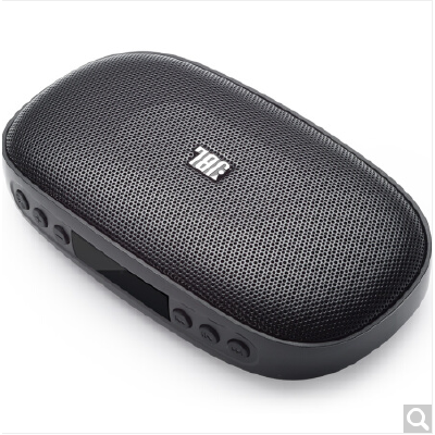 JBL SD-18 BLK 迷你便携无线蓝牙插卡音箱 兼容苹果/三星手机/电脑小音响 MP3播放器 屏幕显示/FM收音机 黑色
