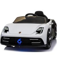 儿童电动车四轮遥控电瓶车1-4岁男女孩大座位双驱双电带手推杆电动车摇摆可充电汽车可坐婴儿小孩玩具