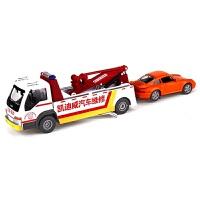 合金属车模型道路救援车维修拖车清障车拯救挖掘机玩具车M