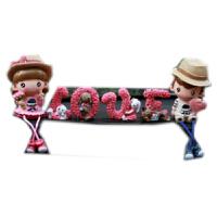 汽车创意摆件情侣娃娃公仔车内装饰品卡通玩偶车载车上装饰