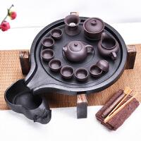 家用陶瓷茶杯储水式茶台茶托茶道实木茶盘紫砂茶具套装