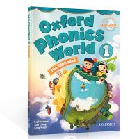 Oxford Phonics World 1: Student Book the alphabet 牛津自然拼读法 英文原版 Level 1级 自然拼读英语教材 学生用书 附2CD 牛津少儿英语