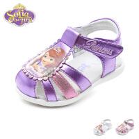 【99元任选2双】迪士尼Disney童鞋新款婴童宝宝鞋苏菲亚公主幼童学步鞋甜美撞色宝宝步前凉鞋(0-4岁可选)K002
