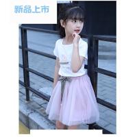 童装女童套装夏装裙子中大儿童短袖公主连衣裙套裙两件套