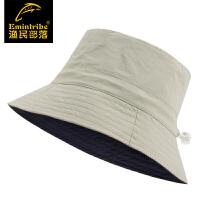 【三件99元】渔民部落户外情侣款可调节两面速干夫帽男女士防晒太阳帽 125116