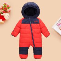 婴儿羽绒服连体衣男宝宝女新生儿1-3岁0-1冬季连体外出服儿童抱衣
