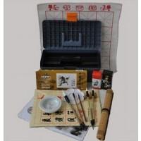 国画颜料工具17件套装颜料画笔 笔墨纸砚俱全 书法毛笔练习文房四宝