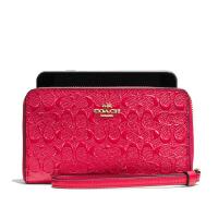 【当当自营】蔻驰(COACH)时尚经典款C纹凹版漆皮革卡包钱包手拿包手腕包女 F57469