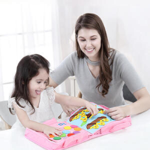 【开学季-爆款直降】jollybaby蒙特梭利蒙氏教具儿童早教玩具撕不烂婴儿布书2-3-4-5岁
