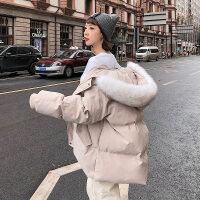 2018潮流新款棉衣女潮中长款冬装女士ins面包服学生冬季外套棉袄
