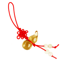 天然黄水晶葫芦挂件黄晶葫芦手机链吊坠水晶饰品钥匙扣饰品