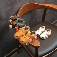 男童凉鞋新款镂空包头夏季宝宝凉鞋男小童