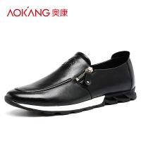奥康透气潮流男户外 韩版英伦男士舒适真皮运动休闲皮鞋