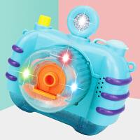 七彩灯光音乐不漏水吹泡泡照相机泡泡枪玩具儿童全自动泡泡机