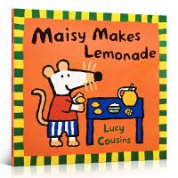 英文原版绘本Maisy Makes Lemonade 平装小鼠波波做柠檬水 廖彩杏推荐 书单作者 Lucy Cousi