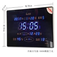 20180910103614707新款大数字LED万年历客厅挂钟静音夜光日历插电壁挂电子钟 其他