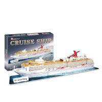 儿童3D立体拼图经典美国邮轮油轮船模型 拼插手工玩具