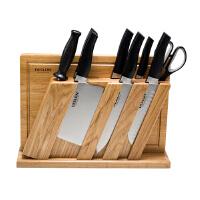 DESLON德世朗FS-TZ006-10切菜刀不锈钢切片刀切肉刀水果刀厨房刀具10件菜板刀座套装