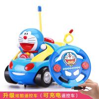 益米哆啦a梦遥控车 男孩电动可充电遥控汽车儿童玩具车宝宝赛车 黄色 1:16