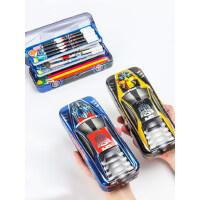 迪士尼文具盒男孩幼儿园小学生大容量双层多三层简约一年级1-3变形金刚汽车新款动漫卡通铁皮儿童男童铅笔盒