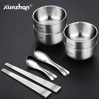 304不锈钢儿童碗套装家用筷子学生餐具勺子家庭12件套