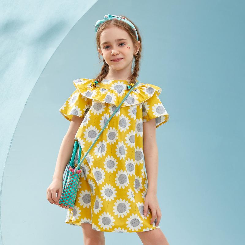 【2件3折:60】巴拉巴拉旗下女童纯棉裙子儿童洋气连衣裙公主裙2020夏装新款女
