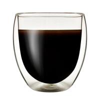 蛋形杯�p�硬AП� 咖啡啤酒杯 隔�嵬该� 250毫升高硼硅