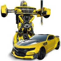 遥控变形玩具金刚模型坦克汽车机器人男孩儿童遥控变形金刚玩具男孩大黄蜂擎天柱汽车机器人模型恐龙金钢5