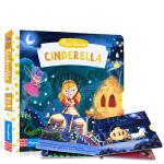 英文原版绘本 Busy First Stories Cinderella 灰姑娘 儿童早教启蒙益智机关操作书 经典童话