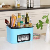 家居用品厨具厨房置物架调味品收纳盒调料储物刀架壁挂架组合套装