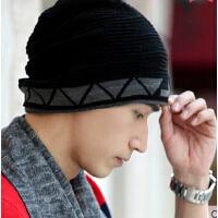 冬季毛线 嘻哈街舞套头帽 帽针织帽户外冬天保暖护耳 男士韩版潮帽子
