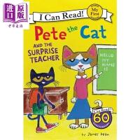 【中商原版】我可以读入门级 皮特猫和惊喜老师 My First I Can Read:Pete the Cat and