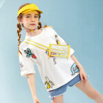 【2件3折:49】巴拉巴拉旗下女童卡通短袖t恤儿童新款洋气打底衫2020夏装女