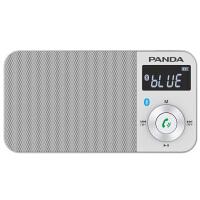 熊猫/PANDA 6210便携式蓝牙插卡充电小音箱FM迷你袖珍收音机 银