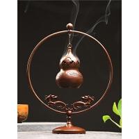 创意纯铜葫芦香薰炉悬挂香炉室内摆件