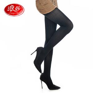 【全店满199减100】浪莎连裤袜女士120D不透肉高雅天鹅绒个性提花连裤袜打底袜