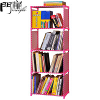 门扉 简易书架 置物架收纳架杂志架厨房卫生间隔板多层组合