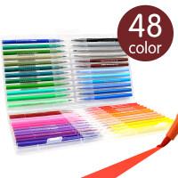 水彩笔套装儿童幼儿园小学生用24色48色36色可水洗绘画笔软头初学者手绘大容量宝宝印章12色