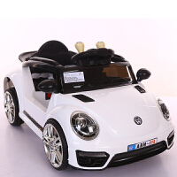 脉驰 新款甲壳虫儿童电动车遥控四轮发光可坐摇摆小孩玩具宝宝电瓶汽车