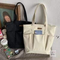 夏季新款大容量手拎单肩包书包电脑包环保购物袋文艺范帆布包男女